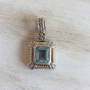 Jewelry - 💯 authentic 14k gold and sterling silver pendant